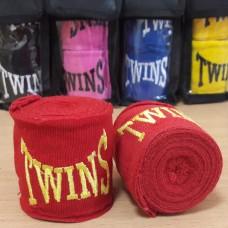 Бинты боксерские (2шт) хлопок с эластаном TWINS MA-5466-3(R) (l-3м, красный)