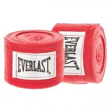 Бинты боксерские (2шт) хлопок с эластаном ELAST VL-0003 (3 м, красный)