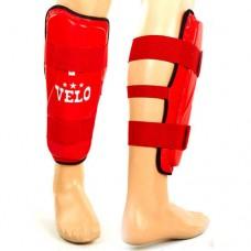 Защита голени для единоборств кожаная VELO VL-8105-R