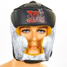 Шлем боксерский с полной защитой FLEX BAD BOY SPIDER VL-6601 (черный-белый, р-р M-XL)