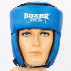 Шлем боксерский открытый с усиленной защитой макушки Кожвинил BOXER 2030 (р-р M-XL, в асортименте)