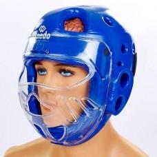 Шлем для тхэквондо с пластиковой маской BO-5490-B
