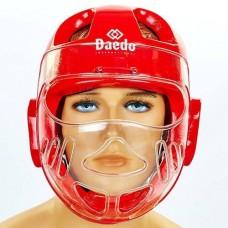 Шлем для тхэквондо с пластиковой маской BO-5490-R