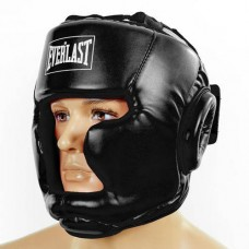 Шлем боксерский с полной защитой PU ELAST BO-3954-BK