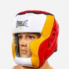 Шлем боксерский с полной защитой кожаный ELAST MA-010-L