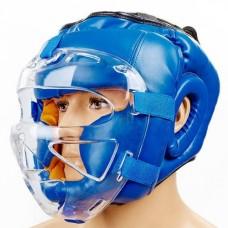 Шлем для единоборств с прозрачной маской FLEX ELAST ZB-5209E-B