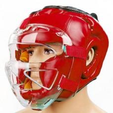 Шлем для единоборств с прозрачной маской FLEX ELAST ZB-5209E-R