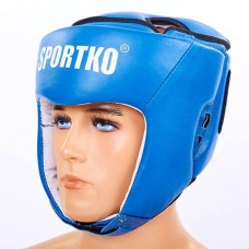 Шлем боксерский открытый кожаный  ФБУ SPORTKO UR SP-4706-B