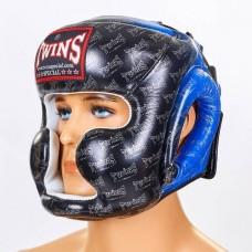 Шлем боксерский с полной защитой кожаный TWINS FHG-TW1BU
