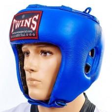 Шлем боксерский открытый кожаный TWINS HGL-8-BU