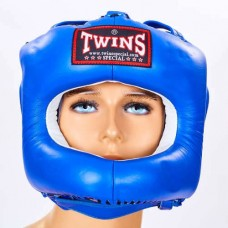 Шлем боксерский с бампером кожаный TWINS HGL-9-BU