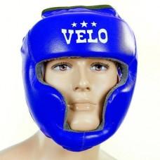 Шлем боксерский с полной защитой кожаный  VELO ULI-5005-B