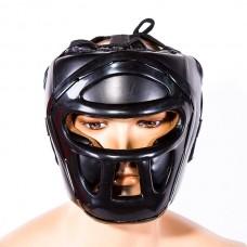 Шлем Venum VM-5010-BK c пластиковой решеткой черный