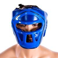 Шлем Venum VM-5010-B c пластиковой решеткой синий