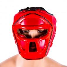 Шлем Venum VM-5010-R c пластиковой решеткой красный