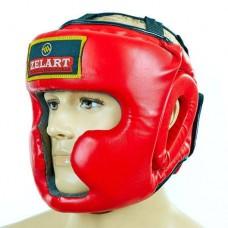 Шлем боксерский с полной защитой PU ZEL ZB-5207-R