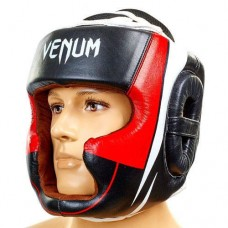 Шлем боксерский с полной защитой VENUM BO-5239-BKW черно-белый