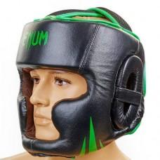 Шлем боксерский с полной защитой  VENUM BO-5246-G черно-зеленый