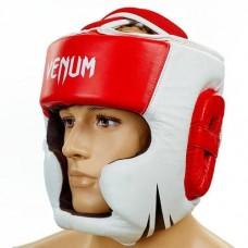 Шлем боксерский с полной защитой  VENUM BO-5246-R красно-белый