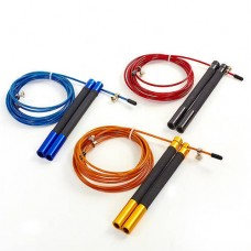 Скакалка профессиональная со стальным тросом скоростная с подшип. FI-5345 (l-3м, d-2,6мм, цвета в ассортименте)