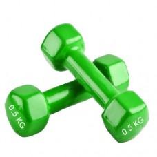 Гантели для фитнеса с виниловым покрытием Радуга  (2* 0.5 кг) TA-0001-0,5