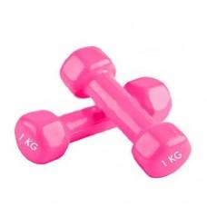 Гантели для фитнеса с виниловым покрытием Радуга  (2* 1кг) TA-0001-1-P