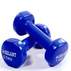 Гантели для фитнеса с виниловым покрытием Beauty (2* 0.5 кг) TA-5225-0,5