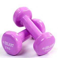 Гантели для фитнеса с виниловым покрытием Beauty (2* 2кг) TA-5225-2