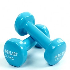 Гантели для фитнеса с виниловым покрытием Beauty (2* 0.5 кг) TA-5225-0,5(LB)