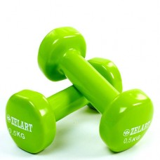 Гантели для фитнеса с виниловым покрытием Beauty (2* 0.5 кг) TA-5225-0,5(LG)