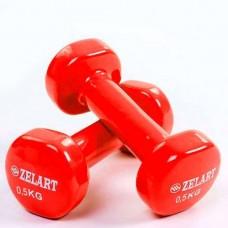 Гантели для фитнеса с виниловым покрытием Beauty (2* 0.5 кг) TA-5225-0,5(R)
