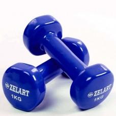 Гантели для фитнеса с виниловым покрытием Beauty (2*1кг) TA-5225-1(B)