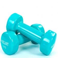 Гантели для фитнеса с виниловым покрытием Beauty (2*1кг) TA-5225-1(T)