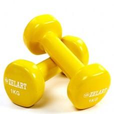 Гантели для фитнеса с виниловым покрытием Beauty (2*1кг) TA-5225-1(Y)