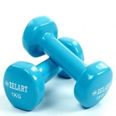 Гантели для фитнеса с виниловым покрытием Beauty (2*1кг) TA-5225-1(LB)