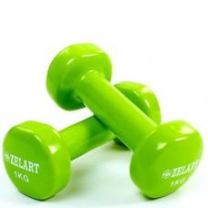 Гантели для фитнеса с виниловым покрытием Beauty (2* 1кг) TA-5225-1(LG)