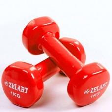 Гантели для фитнеса с виниловым покрытием Beauty (2* 1кг) TA-5225-1(R)