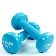 Гантели для фитнеса с виниловым покрытием Beauty (2*1,5кг) TA-5225-1,5(LB)