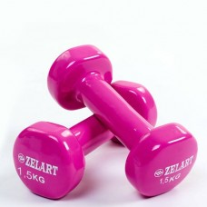 Гантели для фитнеса с виниловым покрытием Beauty (2*1,5кг) TA-5225-1,5(V)