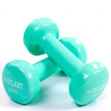Гантели для фитнеса с виниловым покрытием Beauty (2* 2кг) TA-5225-2(M)