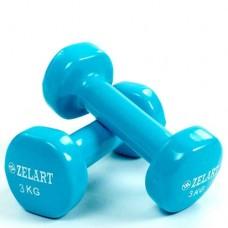 Гантели для фитнеса с виниловым покрытием Beauty (2*3кг) TA-5225-3(LB)