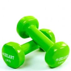 Гантели для фитнеса с виниловым покрытием Beauty (2* 3кг) TA-5225-3(LG)