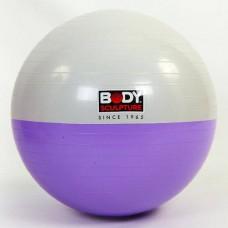 Мяч для фитнеса (фитбол) гладкий глянцевый двухцветный 65см. Body Sk BB-001EPP-26 (PVC, ABS система)