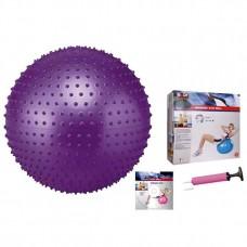 Мяч для фитнеса (фитбол) массажный 55 см Body Sk BB-003-22-DN (PVC,1200г,+DVD,+насос, ABS технология)