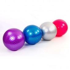 Мяч для фитнеса (фитбол) массажный 65 см ZEL FI-1987-65 (PVC, 1100г, цвета в ассор, ABS технолог)
