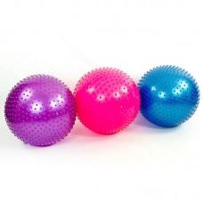 Мяч для фитнеса (фитбол) массажный 55см ZEL FI-1986-55 (PVC, 900г, цвета в ассор, ABS технолог)