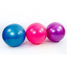 Мяч для фитнеса (фитбол) полумассажный 2в1 65см ZEL FI-4437-65-P