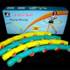 Обруч массажный Hula Hoop FI-1358 COLOR BALL (1,5кг, пластик, 6 секций, d-90см)