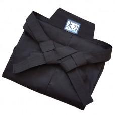 Хакама Bokuto Deluxe черная смесовая