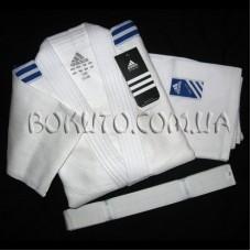 Кимоно для дзюдо белое Adidas Club J350
